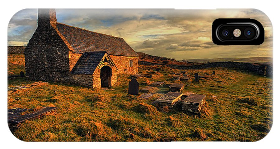 Llangelynnin Church IPhone X Case featuring the photograph Llangelynnin Church Conwy by Mal Bray