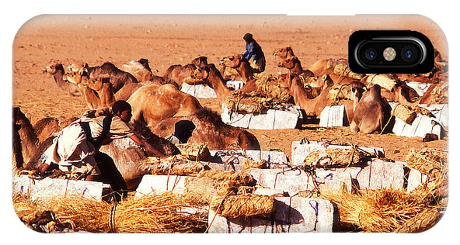 Sahara IPhone X Case featuring the photograph Loading A Salt Caravan by Anthony Dalton