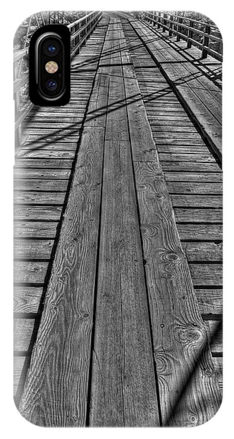 Bridge IPhone X Case featuring the photograph Lobatos Crossing by Britt Runyon