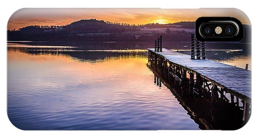 Scotland IPhone X / XS Case featuring the photograph Loch Lomond Dawn by Paul Bradburn