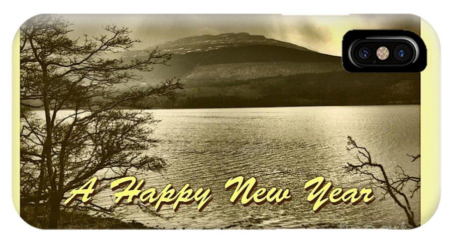 New Year IPhone X Case featuring the photograph Loch Lomond New Year Greeting by Joan-Violet Stretch