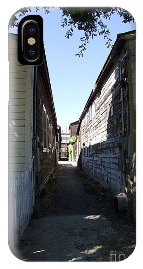 Alley IPhone X Case featuring the photograph Locke Chinatown Series - Back Alley - 6 by Mary Deal