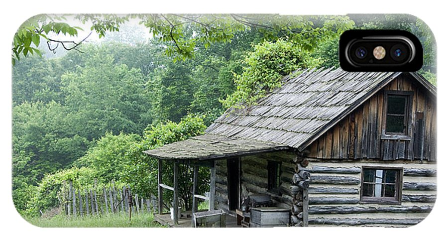 West Virginia IPhone X Case featuring the photograph Log Cabin Fort New Salem by Thomas R Fletcher