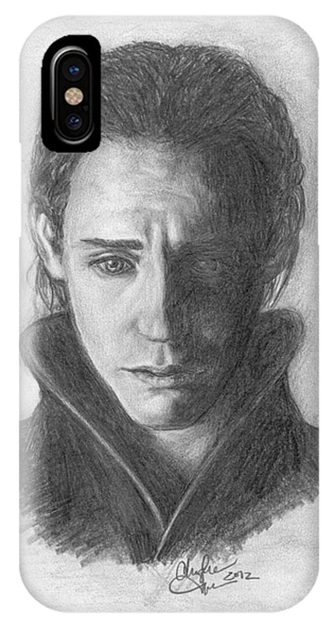 Loki IPhone X Case featuring the drawing Loki by Christine Jepsen