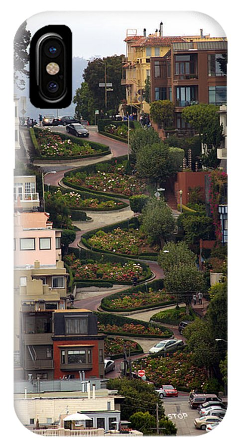 San Francisco IPhone X / XS Case featuring the photograph Lombard Street by David Salter