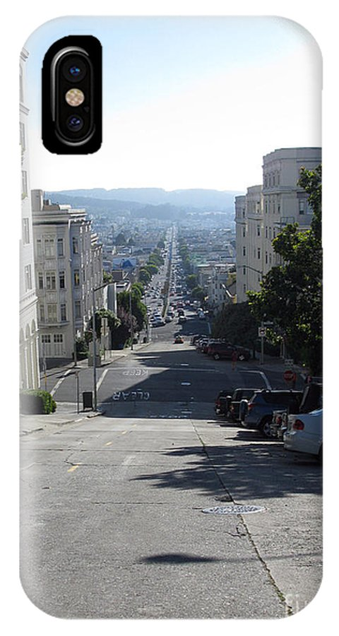 San Francisco IPhone X Case featuring the photograph Lombard Street. San Francisco 2010 by Ausra Huntington nee Paulauskaite