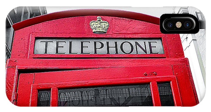 London IPhone X / XS Case featuring the photograph London Calling by Connie Handscomb