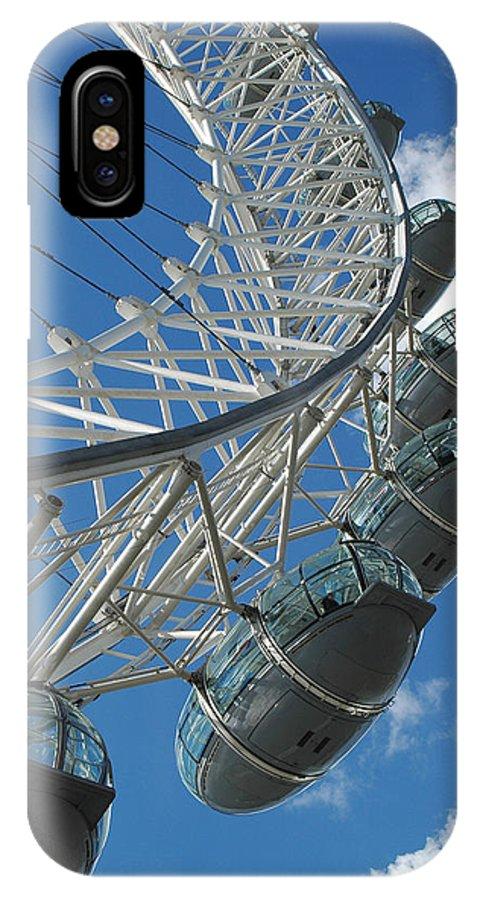 London Eye IPhone X / XS Case featuring the photograph London Eye by Pam Elliott