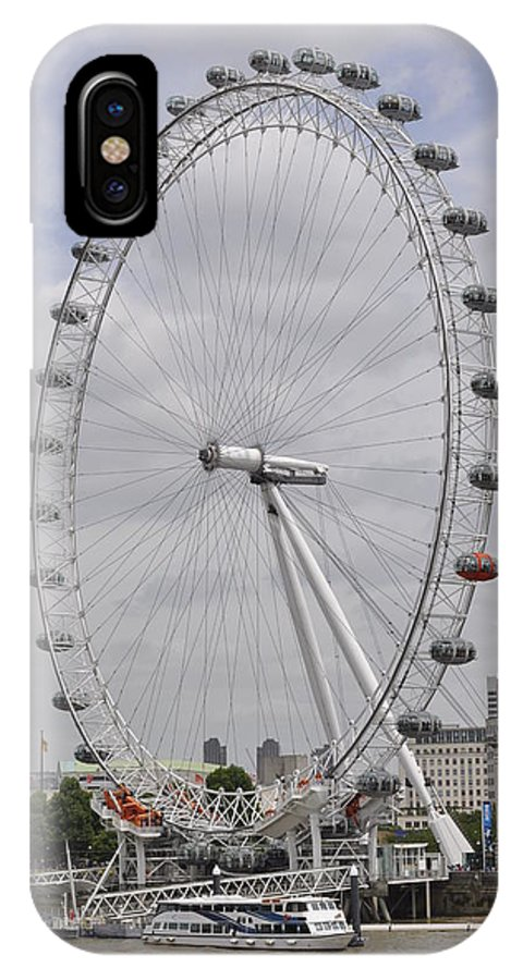 London Eye IPhone X / XS Case featuring the photograph London Eye by Simon Hackett