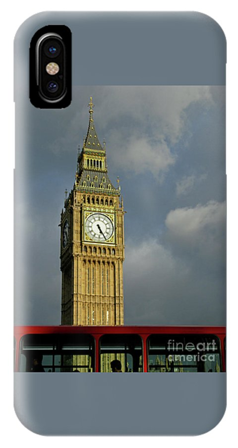 London Icons By Ann Horn IPhone X Case featuring the photograph London Icons by Ann Horn
