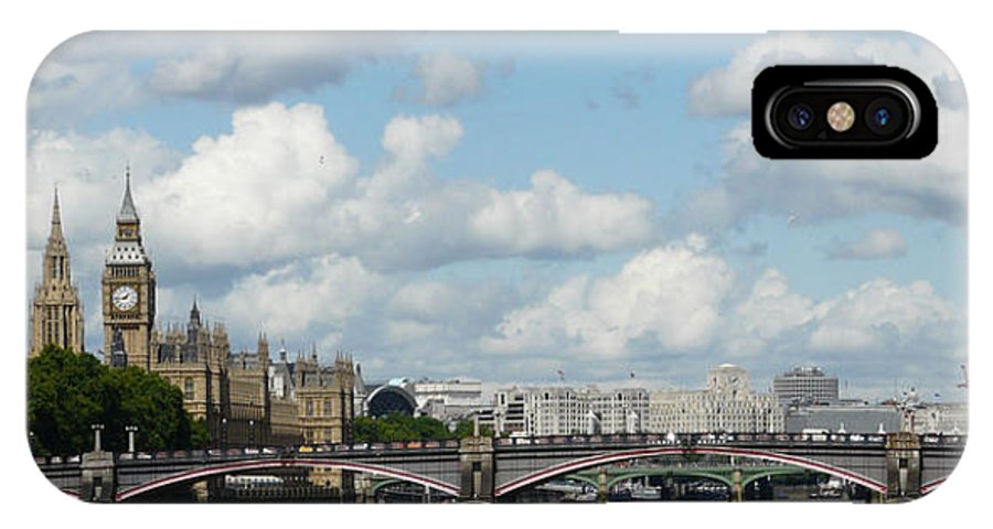 London IPhone X Case featuring the photograph London Panorama by John Topman
