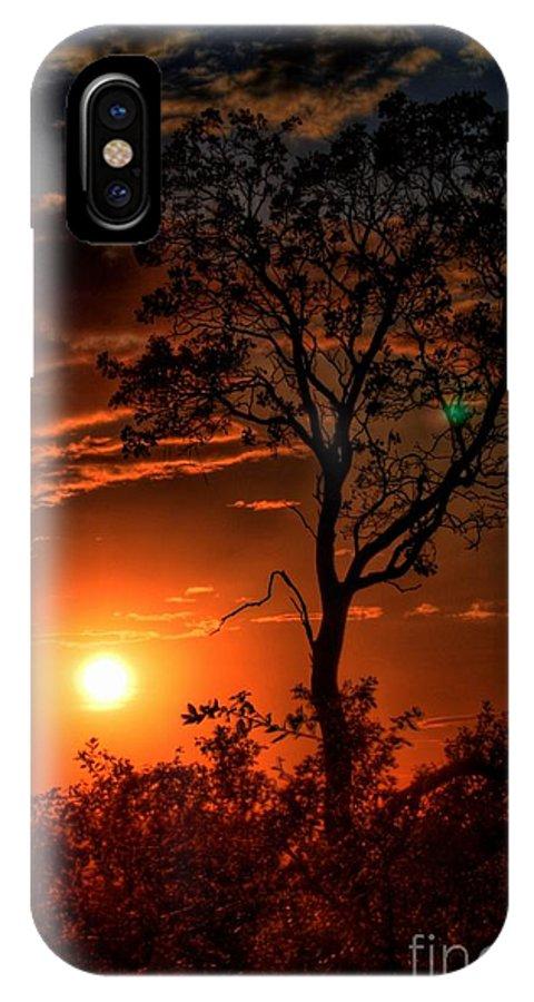 Lone Manzanita Sunset IPhone X Case featuring the photograph Lone Manzanita Sunset by Patrick Witz
