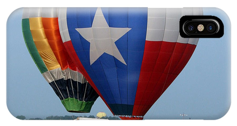 Balloons IPhone X Case featuring the photograph Lone Star Pride by Paul Anderson