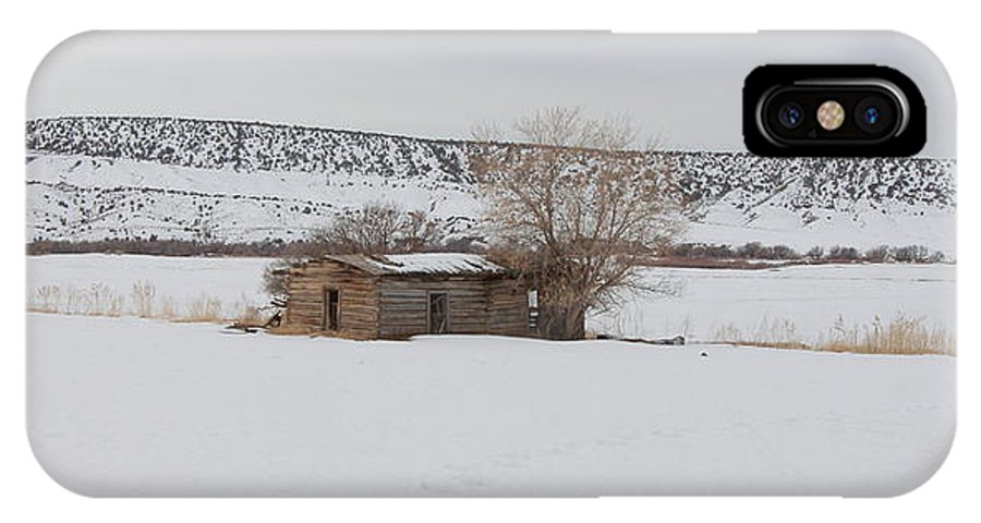 Forgotten Dreams IPhone X Case featuring the photograph Lonely On The Prairie by Floyd Tillery