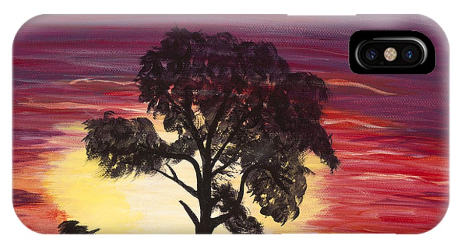 Day IPhone X Case featuring the painting Lonesome Me by Carol Verstoppen