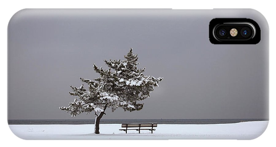 Winter IPhone X Case featuring the photograph Lonesome Winter by Karol Livote