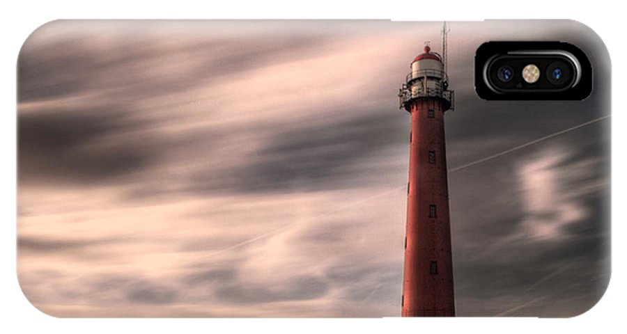 Clouds IPhone X Case featuring the photograph Long Exposure Lighthouse by Tammo Strijker