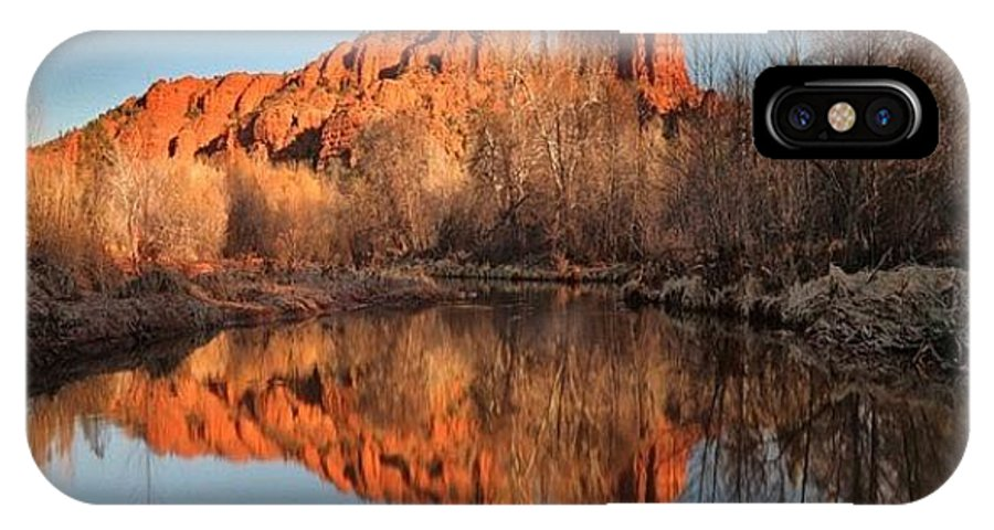 IPhone X Case featuring the photograph Long Exposure Photo Of Sedona by Larry Marshall