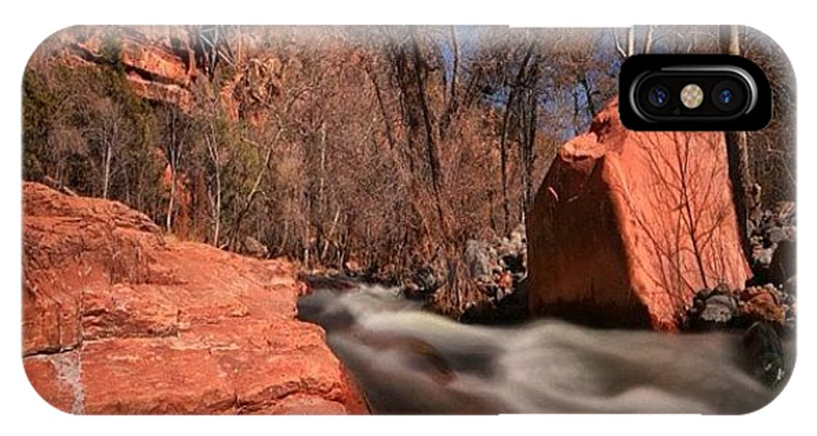 IPhone X Case featuring the photograph Long Exposure Photo Taken In The Oak by Larry Marshall