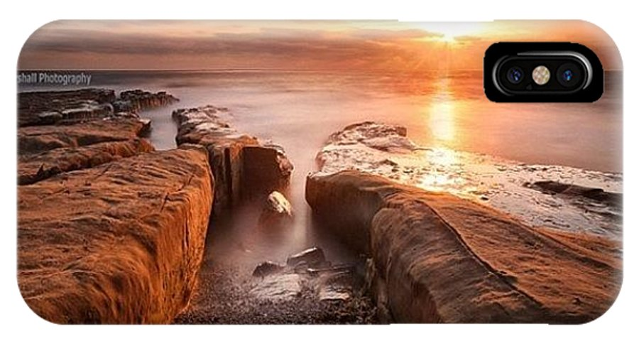 IPhone X Case featuring the photograph Long Exposure Sunset At A Rocky Reef In by Larry Marshall