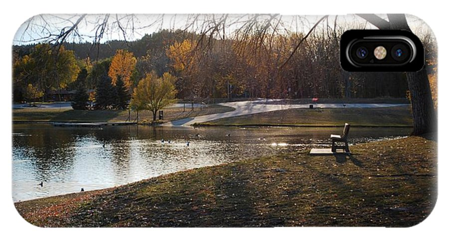Dakota IPhone X / XS Case featuring the photograph Long Shadows At Canyon Lake by Dakota Light Photography By Dakota