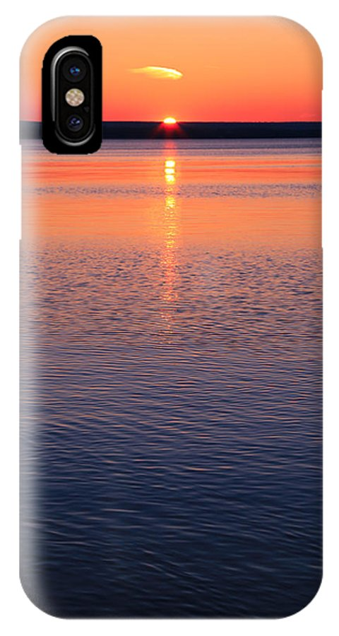 Long Sunset IPhone X Case featuring the photograph Long Sunset by Rachel Cohen