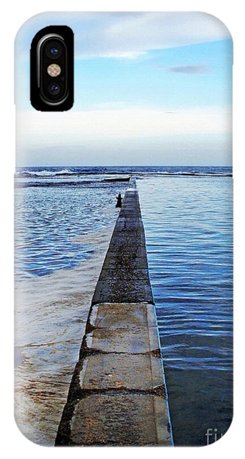 Photography IPhone X / XS Case featuring the photograph Long View To The Ocean by Kaye Menner