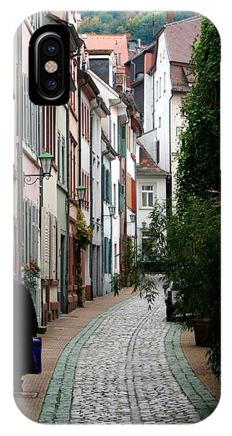 Street IPhone X Case featuring the photograph Long Walk Home by Rhonda Burger