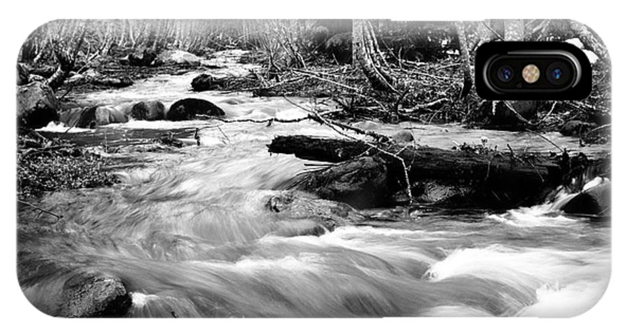 Landscape IPhone X Case featuring the photograph Longmire Stream 5bw by Earl Johnson