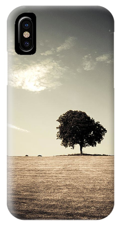 Tree IPhone X Case featuring the photograph Lonsome Listry by Mark Callanan