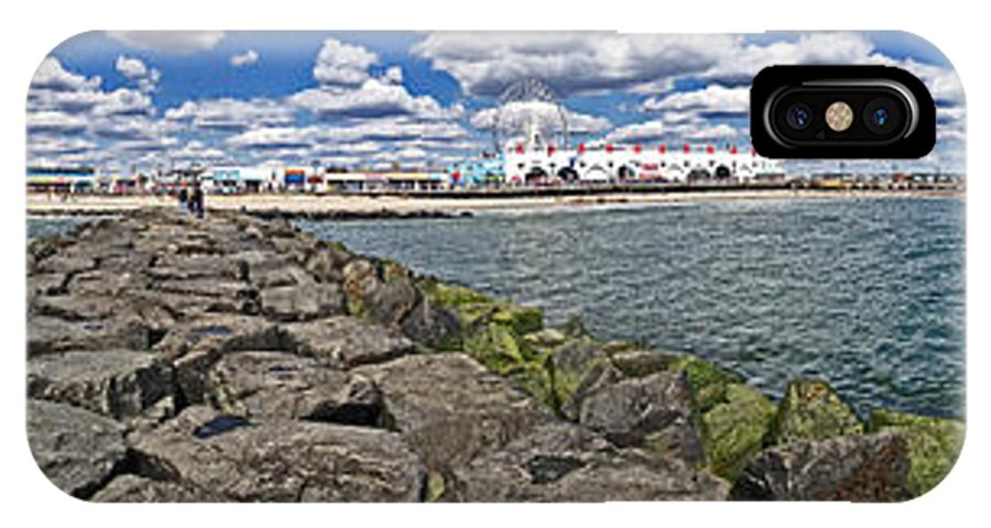 Nature IPhone X Case featuring the photograph Looking At Ocnj by Tom Gari Gallery-Three-Photography