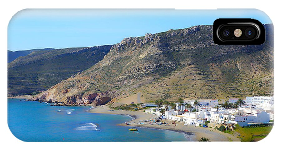 Sea IPhone X Case featuring the photograph Looking Down On Las Negras by Digby Merry