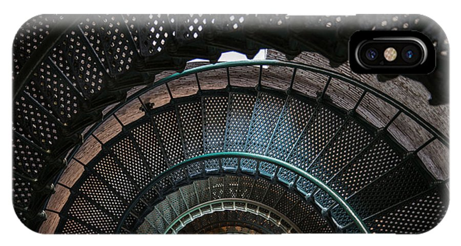 Lighthouse IPhone X Case featuring the photograph Looking Down by Stacy Abbott