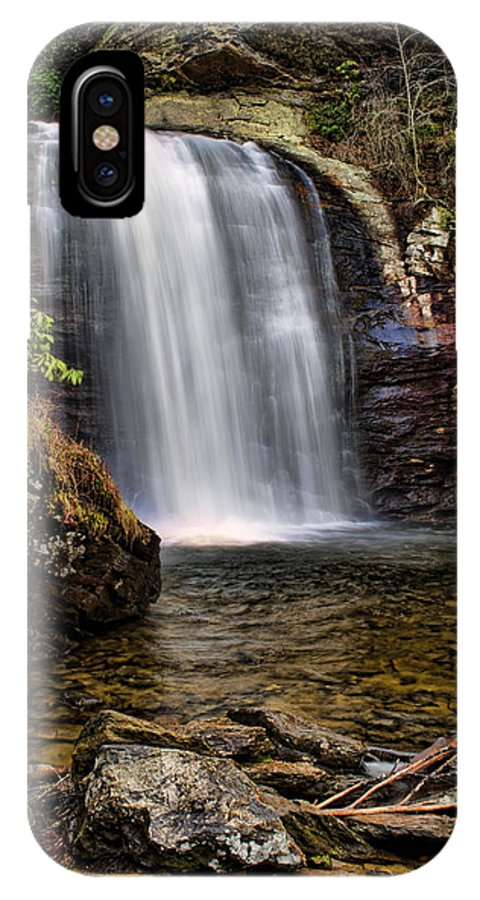 Waterfall IPhone X Case featuring the photograph Looking Glass Falls by Louise St Romain