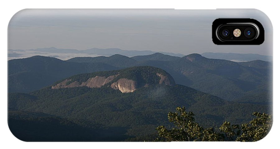 North Carolina IPhone X Case featuring the photograph Looking Glass Mountain by Stacy C Bottoms