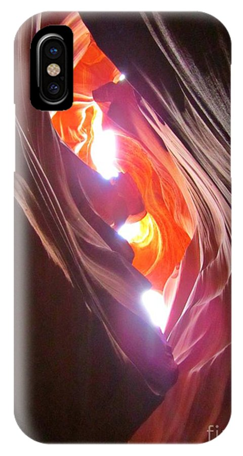 Beautiful Canyons IPhone X Case featuring the photograph Looking Up In Antelope Canyon by John Malone
