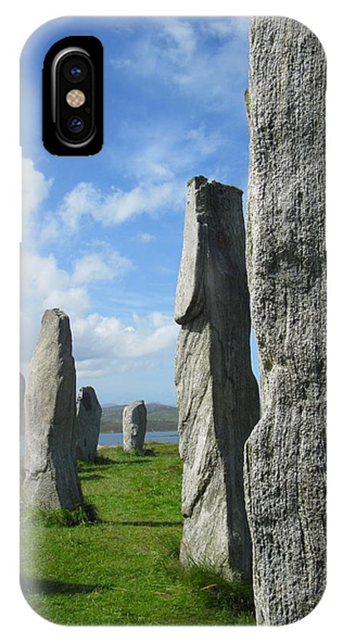 Callanish Inner Circle IPhone X Case featuring the photograph Looking West At Callanish by Denise Mazzocco