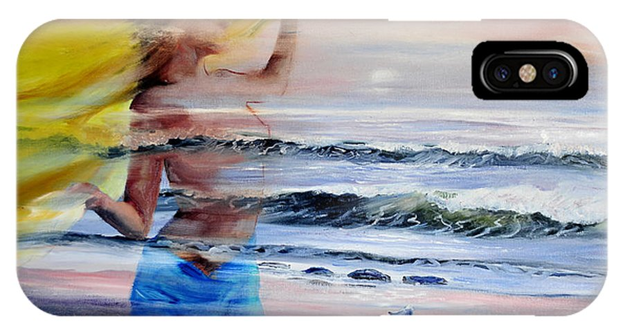 Surrealistic IPhone Case featuring the painting Lost At Sea by Paula Visnoski