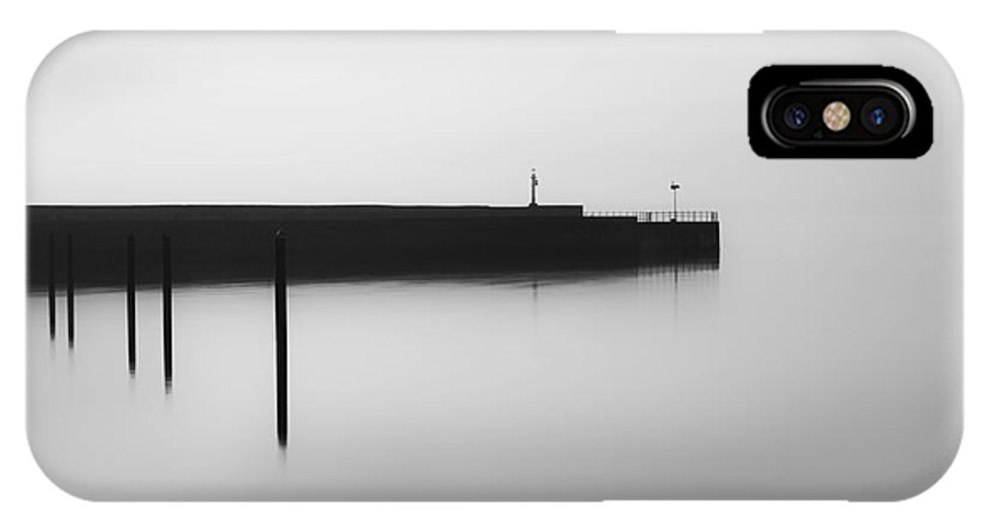 Monochrome IPhone X Case featuring the photograph Lost In Time by Bahadir Yeniceri