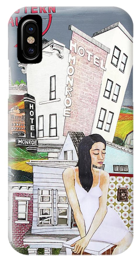 Lost IPhone X Case featuring the mixed media Lost Love by Michele Fritz