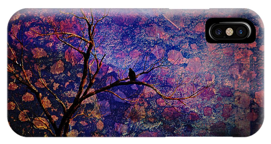 Bird IPhone X Case featuring the photograph Lost Paradise by Iris Greenwell