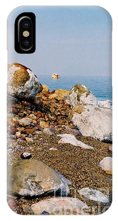 Dead Sea IPhone X Case featuring the photograph Lot's Wife by Kathy McClure