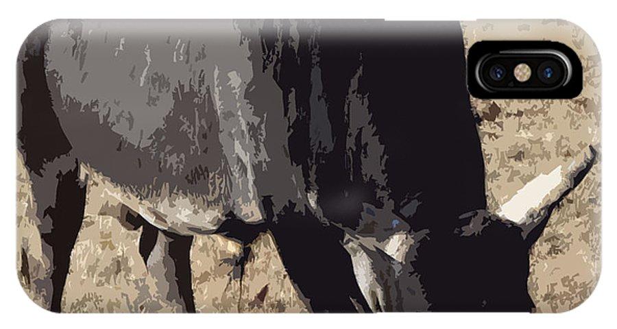 Bull IPhone X Case featuring the photograph Lotta Bull by Bobbee Rickard