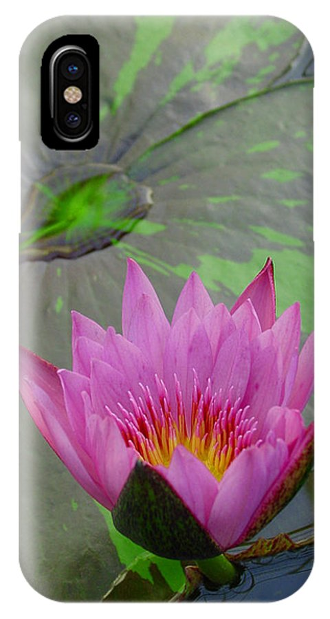 Lotus IPhone X Case featuring the photograph Lotus Blossom by Suzanne Gaff