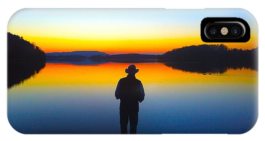 Lough Erne IPhone X Case featuring the photograph Lough Erne Sunset by Kimberly McDonell