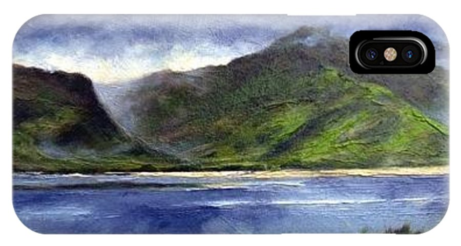 Irish IPhone X Case featuring the painting Loughros Bay Ireland by Jim Gola