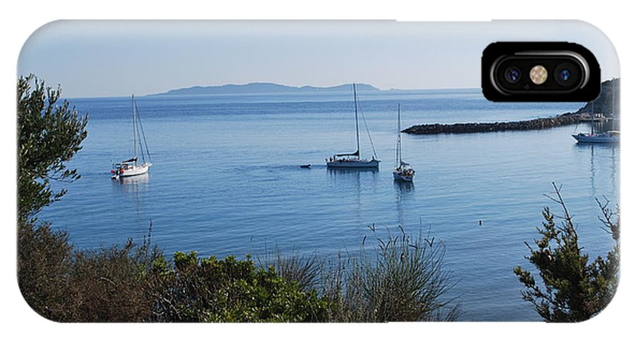 Loutsi IPhone X Case featuring the photograph Loutsi Bay 5 by George Katechis
