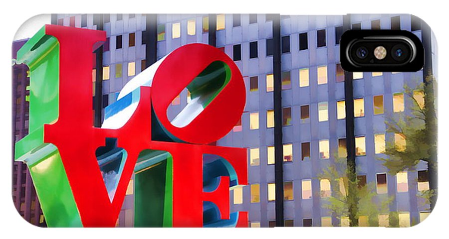 Love Park Philadelphia Letters Red IPhone X Case featuring the photograph Love In The Park by Alice Gipson