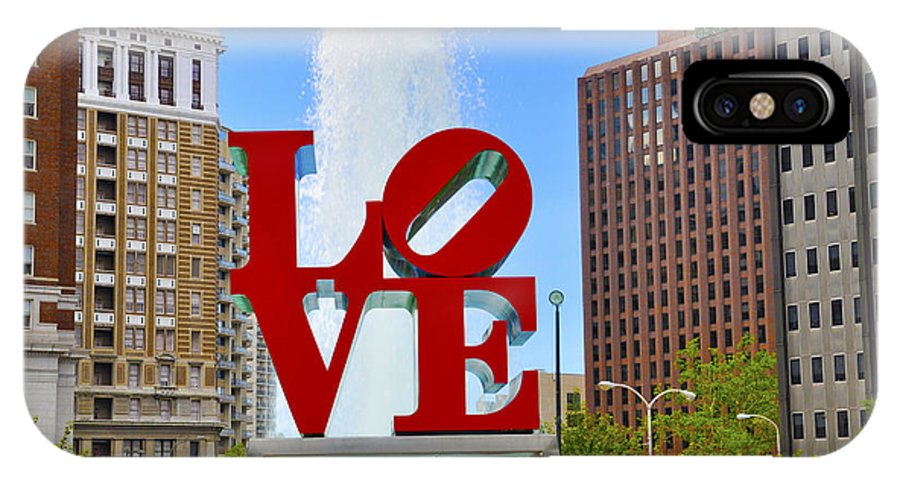 Love Park IPhone X Case featuring the photograph Love In The Park by Patrick Meek