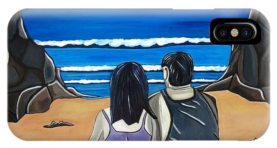 Beach IPhone X Case featuring the painting Love Is by Sandra Marie Adams